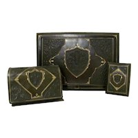 Embossed Leather Desk Set