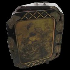 Lacquer & Bronze Black Jewelry box