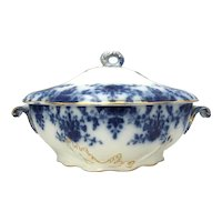 Flow Blue Soup Tureen