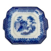 Flo Blue Square Plate
