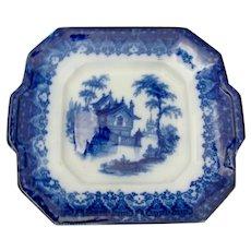 Flo Blue Square Plate