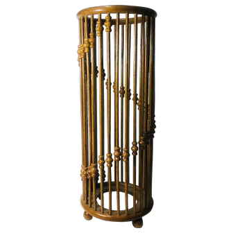 Antique Umbrella Stand With Stick and Ball Construction