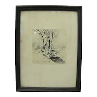 Signed George Elbert Burr Etching