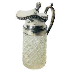 Antique Small Cut Glass Pitcher