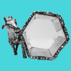 Victorian Goat Silverplate Napkin Holder