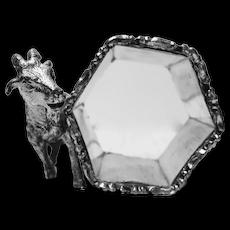 Victorian Goat Silverplate Napkin Holder