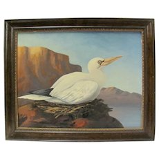 G.A. Steffen Oil Painting of Bird