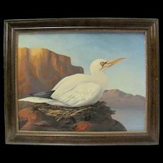 G.A. Steffen Oil Painting of Bird