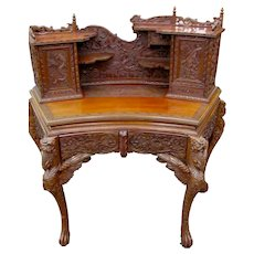 Hand Carved Chinese Desk