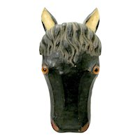 Composition Horse Head Match Holder