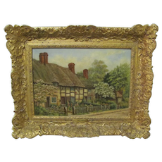 H. Drummond Oil on Artist Board Welford on Avon Signed