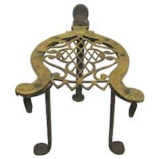 19th Century Brass & Iron Trivet