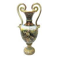 Italian Monumental Handpainted Urn