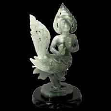 Jade Kinnara Statue