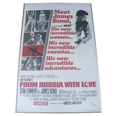 Original James Bond Movie Poster