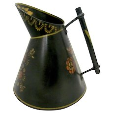 Large Toleware Pitcher