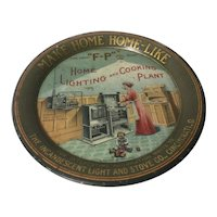 """""""F-P"""" Home Lighting and Cooking Plant promotional plate"""