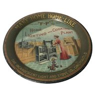 """F-P"" Home Lighting and Cooking Plant promotional plate"