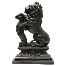 Lion Iron Door Stop