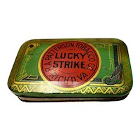 Lucky Strike Advertising Tobacco Tin