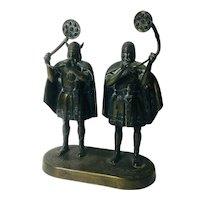 Bronze Nordic Military Musicians, EDW AAgaard- Copenhagen