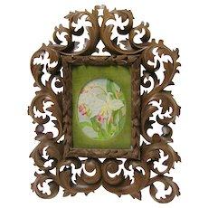 Black Forest Hand Carved Picture Frame