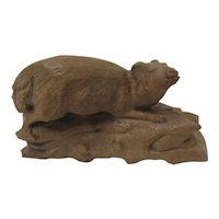 Black Forest  Hand Carved Animal Carving