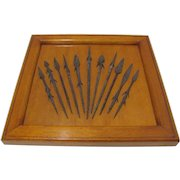 Hand Forged Wrought Iron Arrow Points