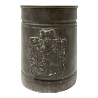 Metal stein made in Italy Armorial Crest