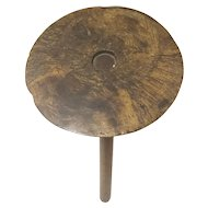 Burled 3-legged Milking Stool