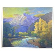 """Umcompahgre"" by Harold Skene, Painting on Board"