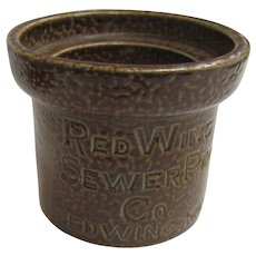 Red Wing Advertising  Sewer Pipe Salesman Sample