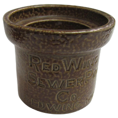 Red Wing Advertising  Sewer Pipe Salesman Sample