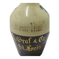 Glen Forest   Whiskey Pottery  Jug  A Graf & Co. St Louis