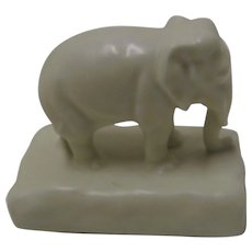 Rookwood Elephant 1930 Artist Signed Paperweight