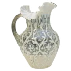 Opalescent Spanish lace Pitcher