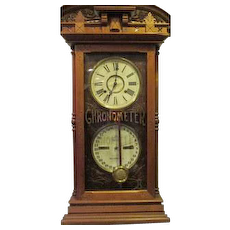 Ithica Double Dial Clock
