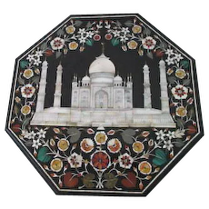 Pietra Dura Inlaid Stone Plaque