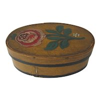 Oval Painted Lap Box Miniature