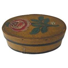 Oval Painted Lap Box Miniature