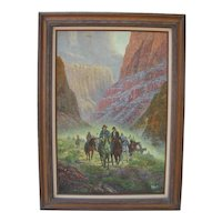 Indians On Horseback Painting by G Hartt