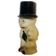 Vintage Banker Frosted Glass Perfume Bottle