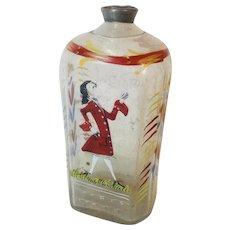 Antique German Hand Painted  Blown  Perfume Bottle