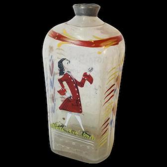 Antique German Hand Painted Mens Perfume Bottle