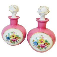 Royal Dresden Perfume Bottles, Pink, Matching