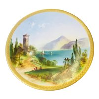 Italian COMO Candy Plate with Lake Image