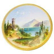 Italian COMO Candy Plate with Lake Image