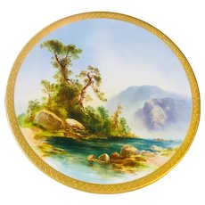 """Candy Plate """"The Way Brook"""", Hand Painted"""