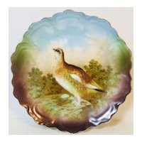 Beautiful Bavarian Plate with Grouse