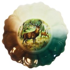Beautiful Bavarian Plate with Stag